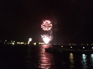 Vuurwerk aan het Spaanse water