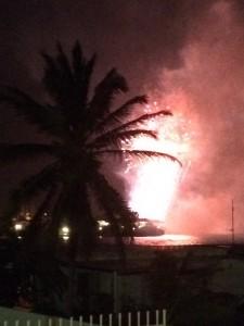Vuurwerk in de tropen!