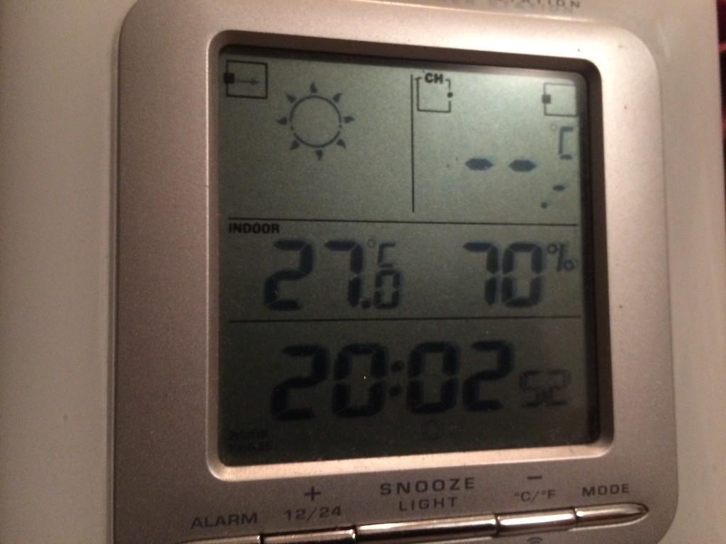 Temperatuur in de avond